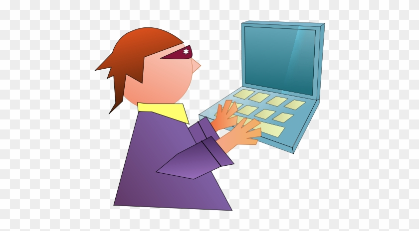 Funny Computer Clip Art drawing free image