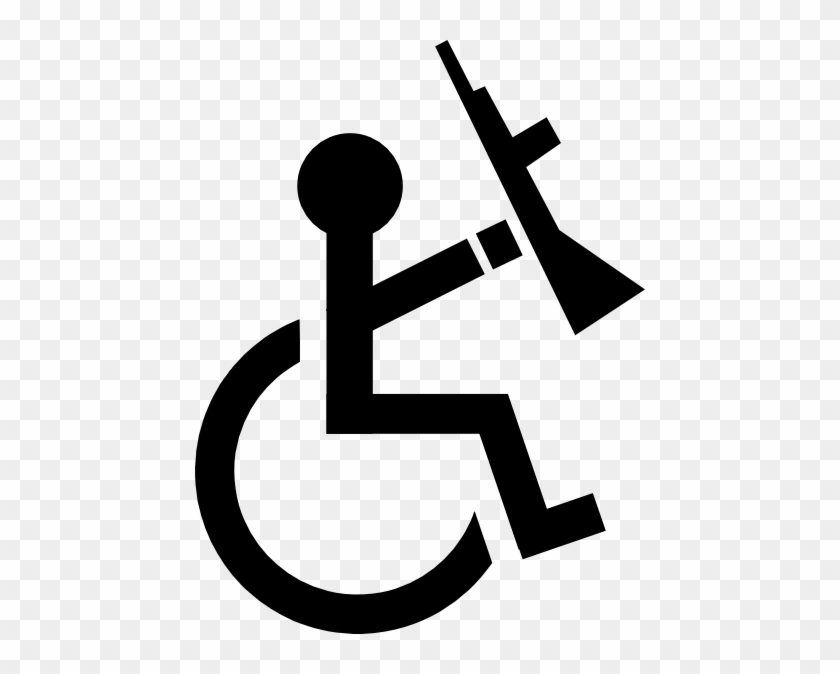 Anarchist On A Wheelchair Clip Art At Vector Clip Art - Anarchy Clip Art #123511
