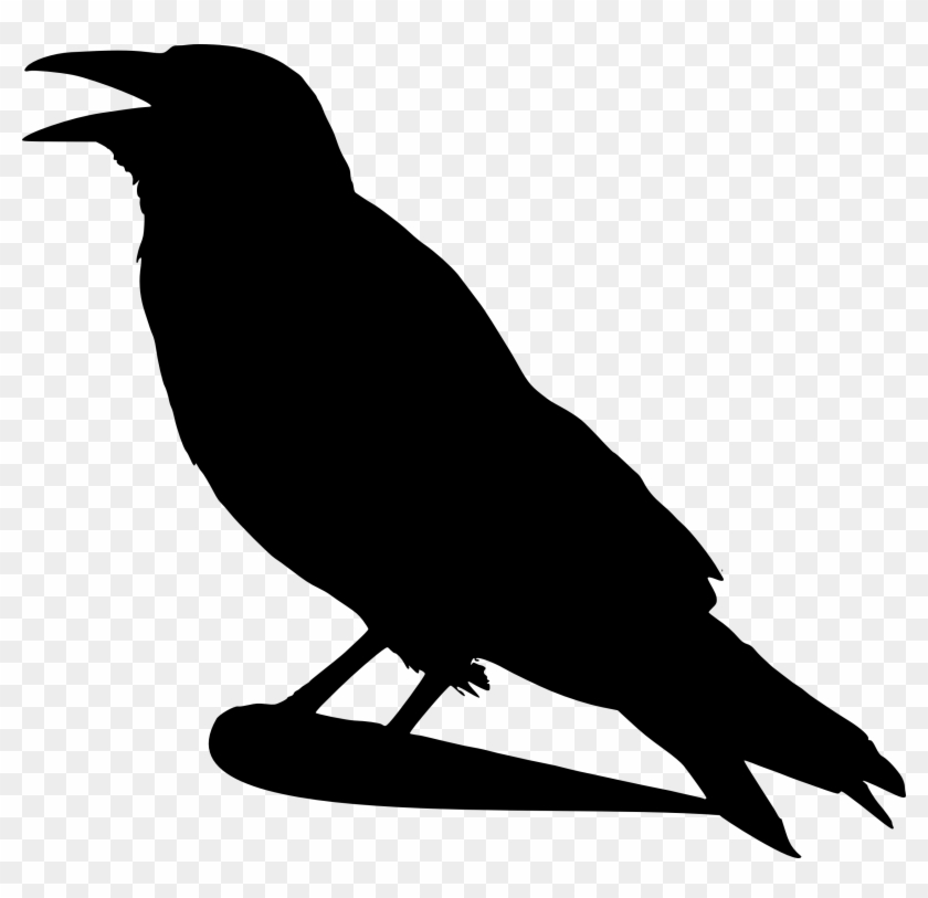 Crow Clip Art Black And White Free Clipart Images - Crow Silhouette #123529
