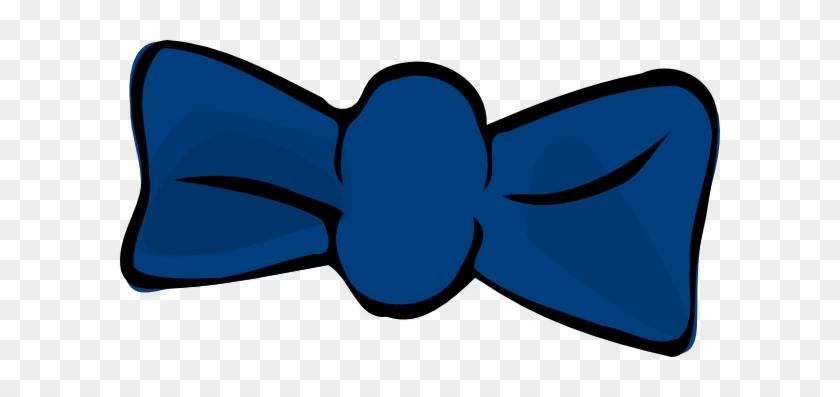 Blue Bow Clipart - Dark Blue Bowtie Clip Art #123541