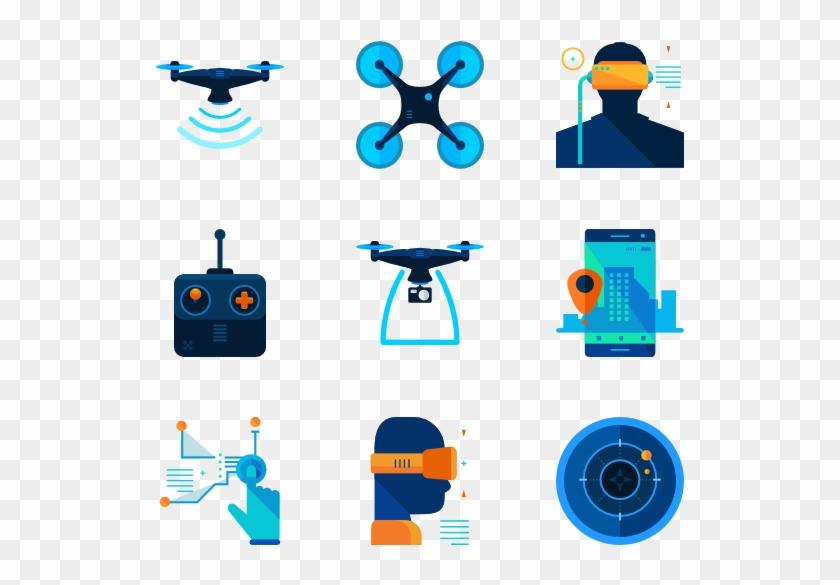 Drone - Drone Icon Flat #123546
