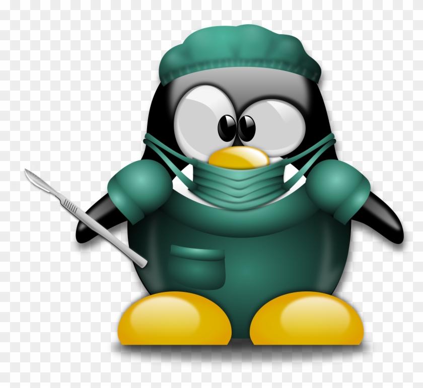 Clipart - Surgeon Penguin #123601