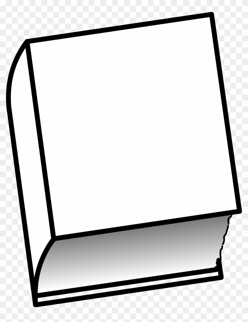 Cover Clipart Closed Book Pencil And In Color - Closed Book Clip Art Black And White #123658