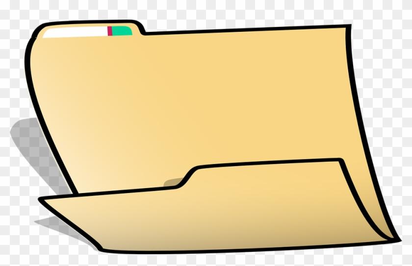 Folder Office File Document Open Directory - File Folder Clip Art #123851