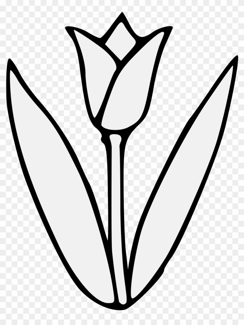 Glamorous Free Tulip Clipart Flower Png Transparent - Tulip Clipart Black And White Png #123961