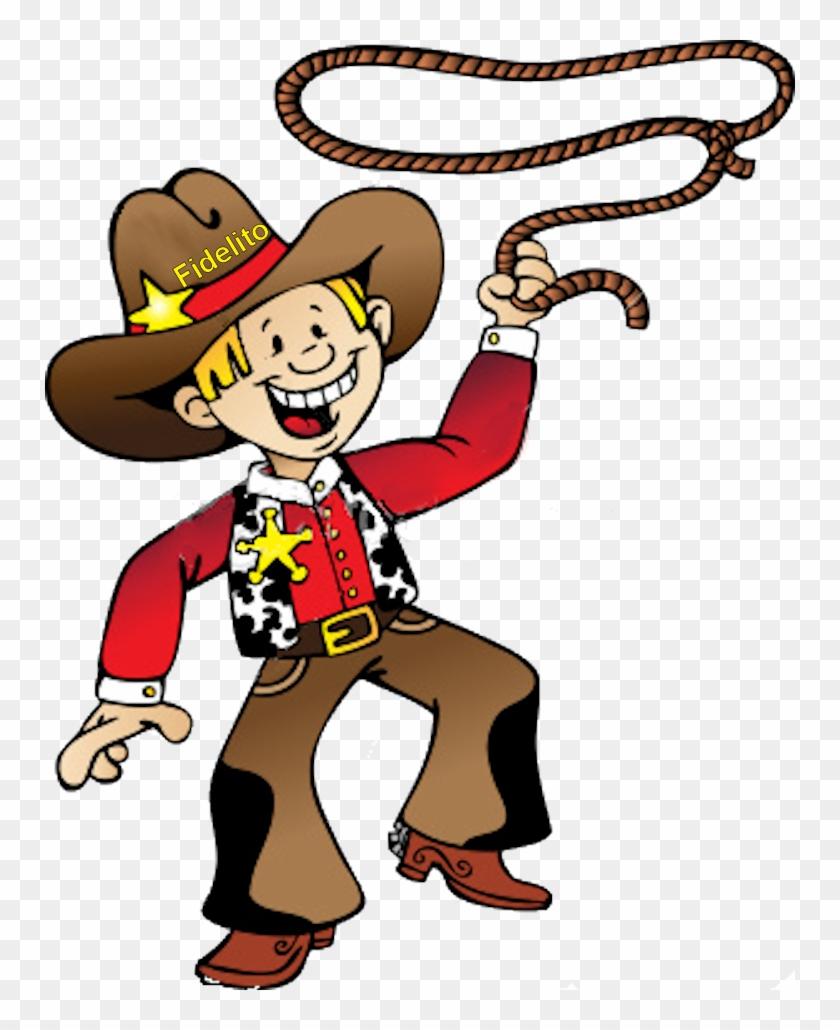 Cowboy Png - Cartoon Cowboy With Lasso #124044