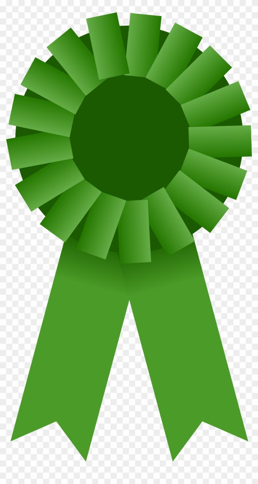 Big Image - Green Award Ribbon Png #124100