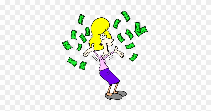 Lottery - Clipart - Throwing Money In The Air #124148