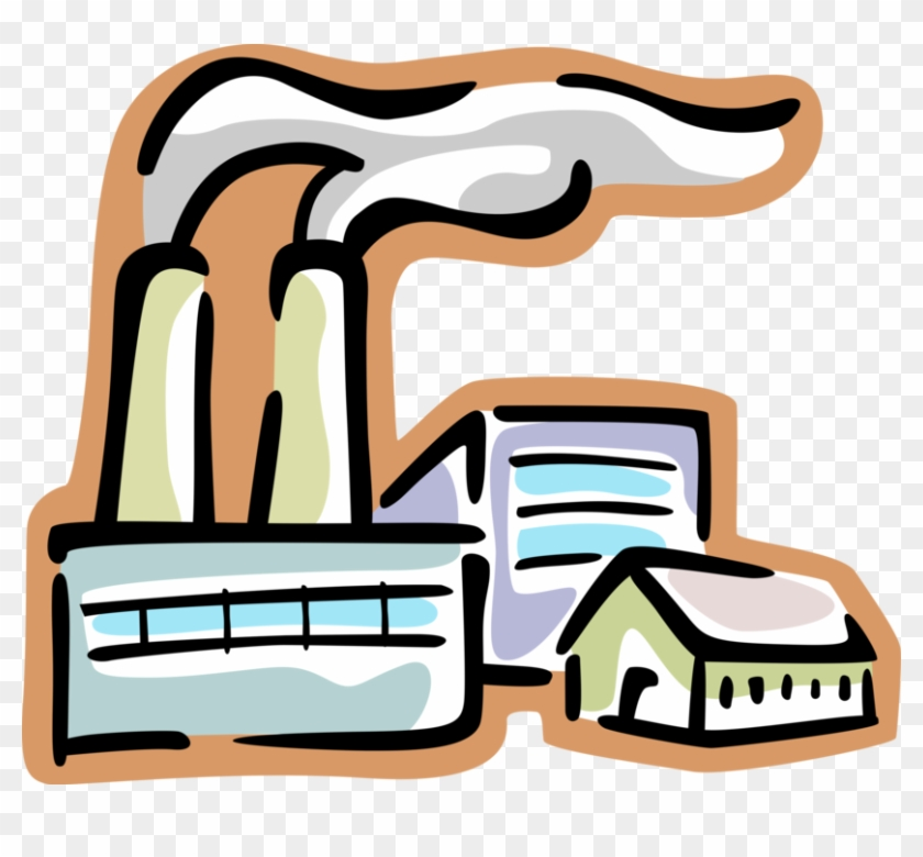 Ideal Natural Resources Clipart Factory With Smokestack - Smoke Stack Clip Art Transparent #124347