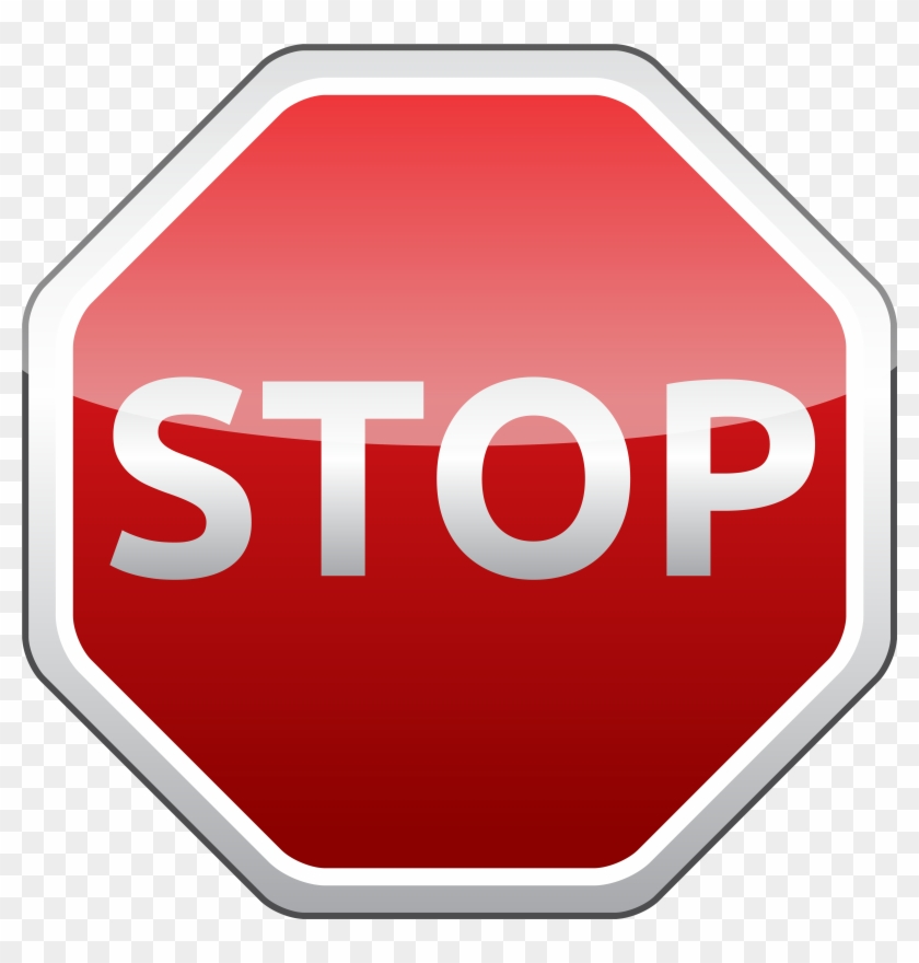 Stop Sign Png Clipart - Stop Clipart Png #124390