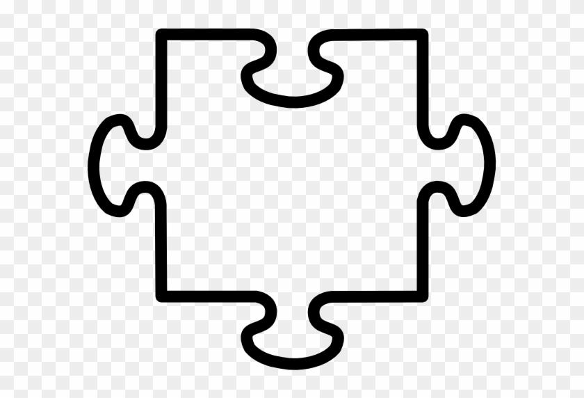 Transparent Jigsaw Clip Art At Clker Vector Clip Art - Puzzle Piece Clipart #124436