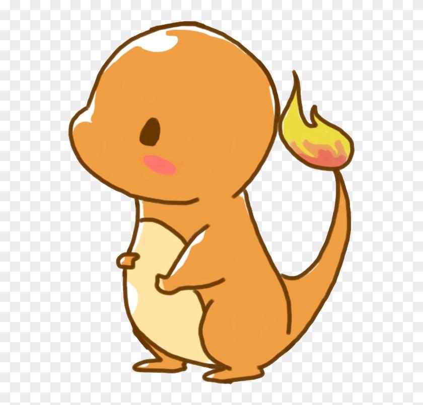 Pikachu Clipart Charmander - Pokemon Chibi Charmander #124466