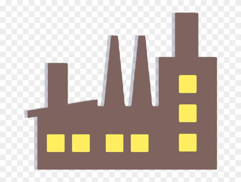 Factory Building Vector Clipart Sticker Symbol - Industry 4.0 Icon #124494