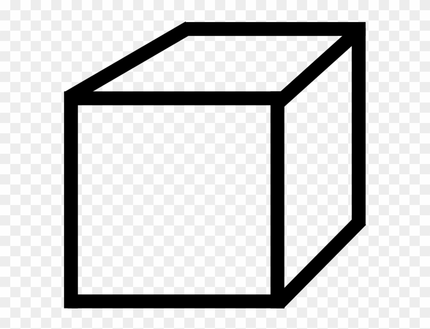 Cube Clipart Vector - Colouring Picture Of A Cube #124515