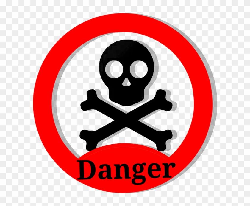Danger Skull Vector Clipart Sign Take Care - Danger Transparent #124567