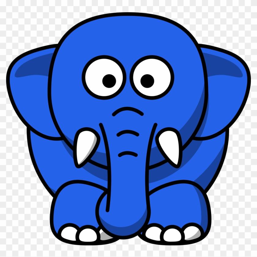 """don't Think Of A Blue Elephant "" - Cartoon Elephant Transparent #124575"