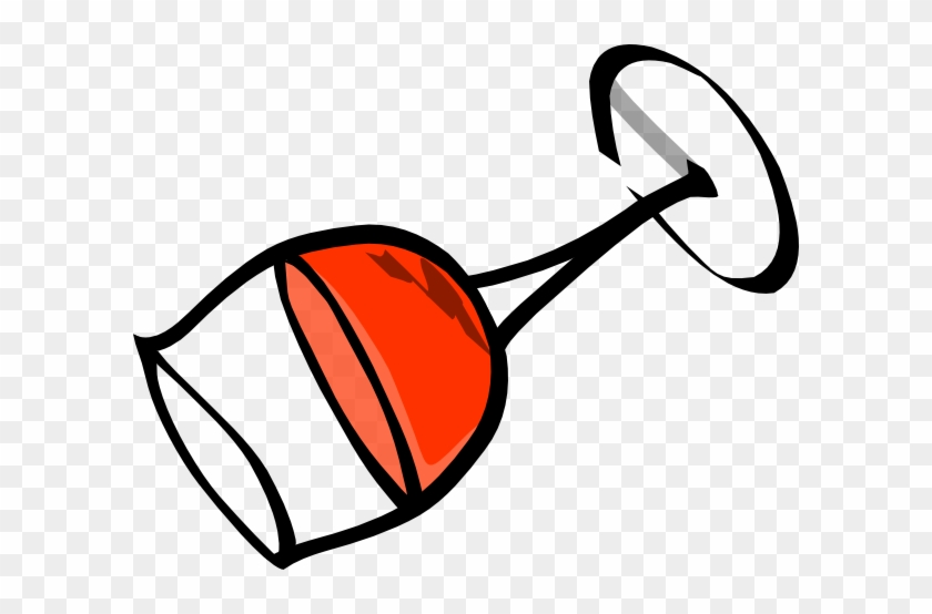 Tilted Wine Glass Clip Art At Vector Clip Art - Wine Glass Clipart #124629