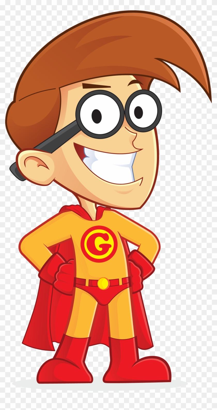 Free Superhero Nerd Geek People High Resolution Clip - Simple Logic Crossword Puzzles Volume 2 #124647