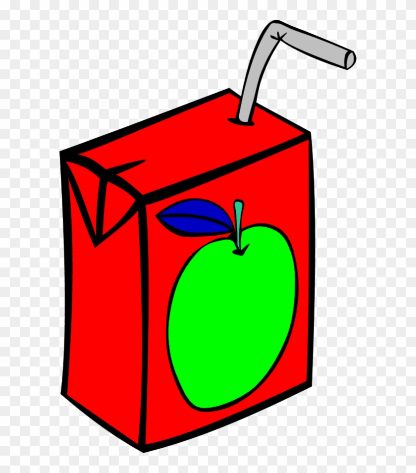 Vector Clip Art - Juice Box Clipart Black And White #124682