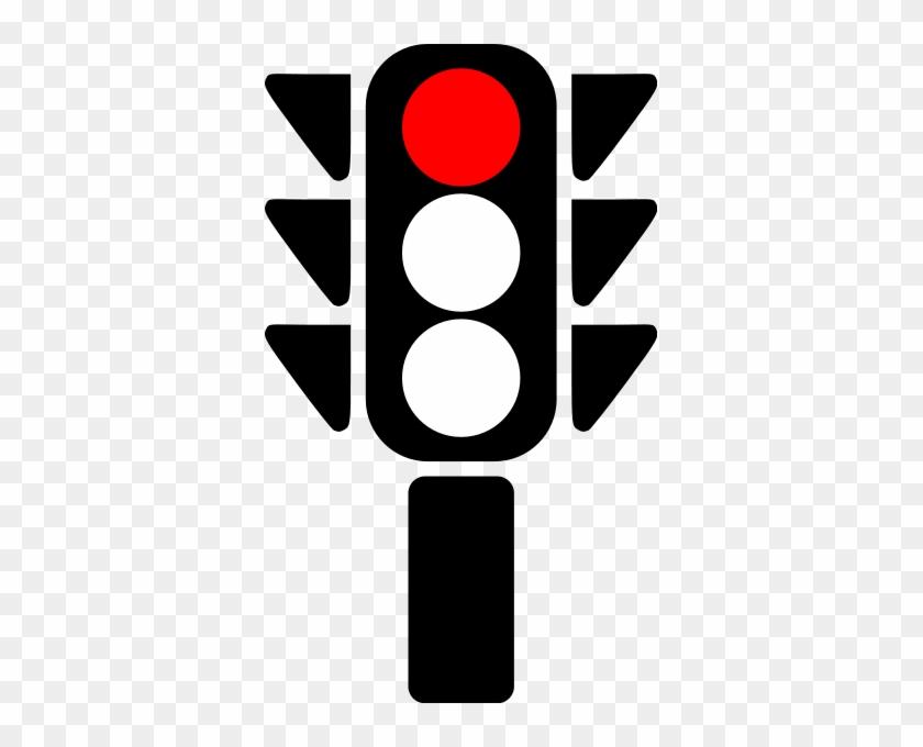 Traffic Semaphore Red Light Clip Art At Clker Com Vector - Red Traffic Light Icon #124692