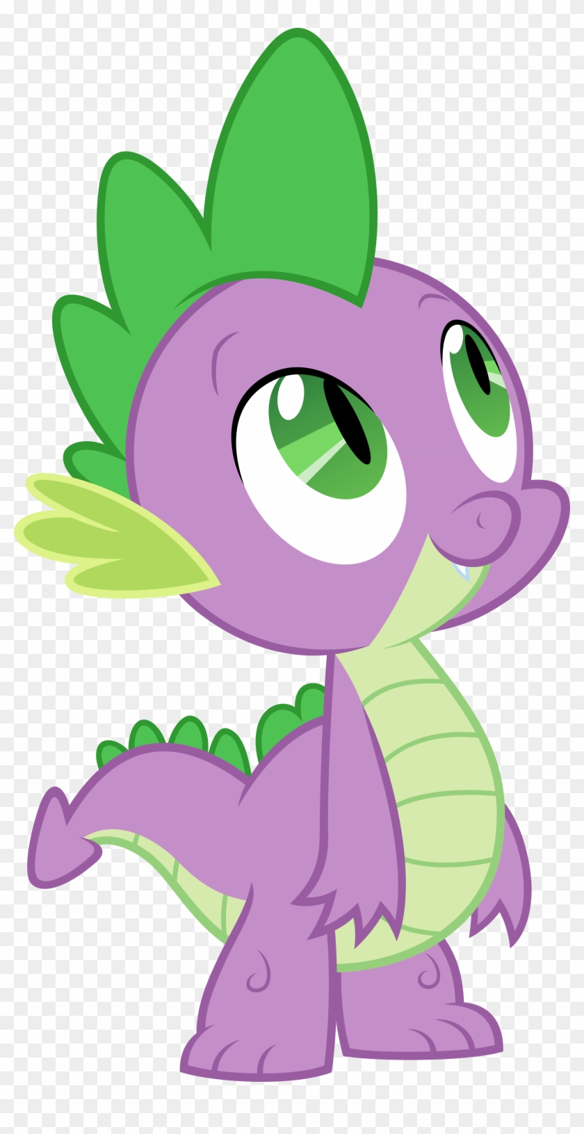 My Little Pony Clipart High Resolution - My Little Pony Spike Happy #124708