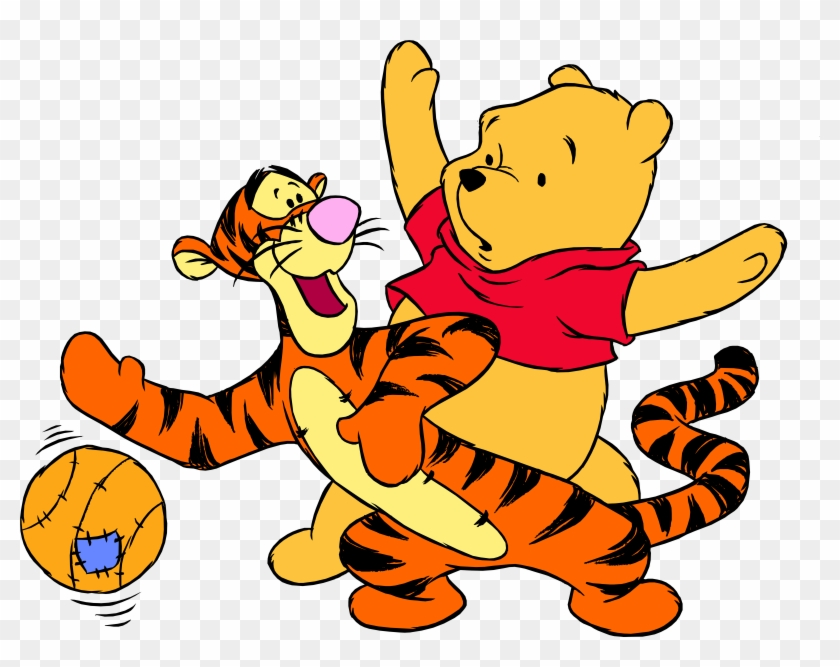 Winnie The Pooh Tigger And Ball Png Clip Art - Winnie The Pooh And Tigger Clipart #124761