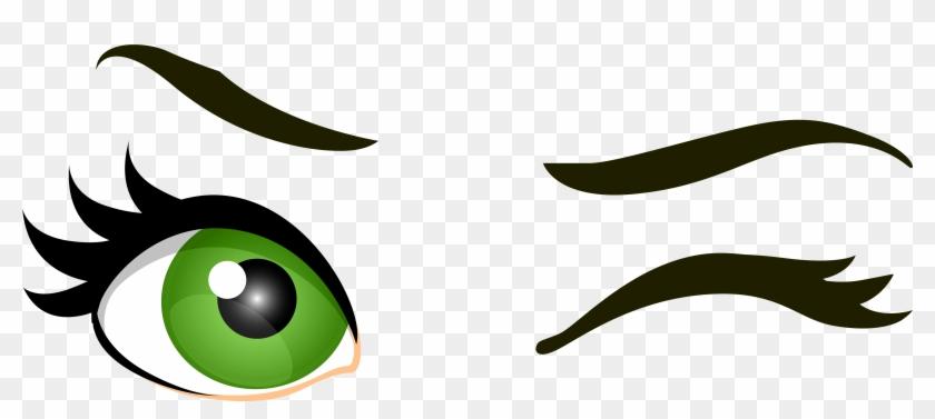 green winking eyes png clip art eyes clip art free transparent rh clipartmax com Cartoon Winking Eye Lady Winking Eye Clip Art