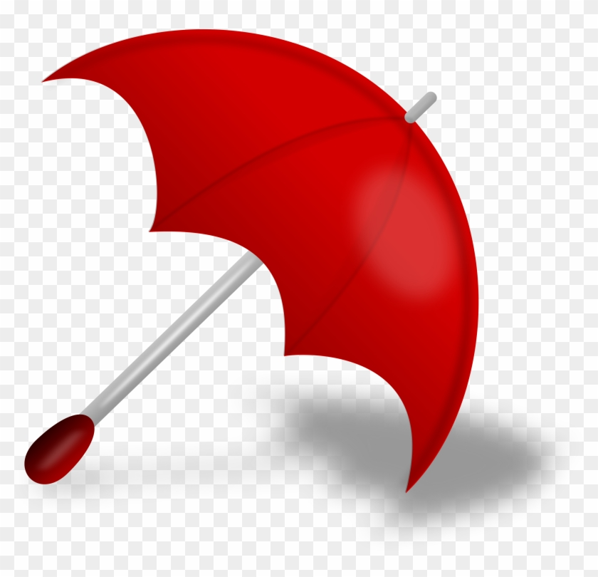 Clip Art Umbrella And Rain - Red Umbrella Png #124938