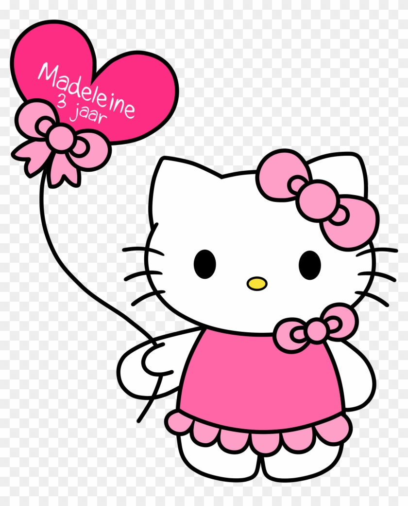 Hello Kitty Free Download Clip Art On Clipart - Hello Kitty With Balloons Png #125074