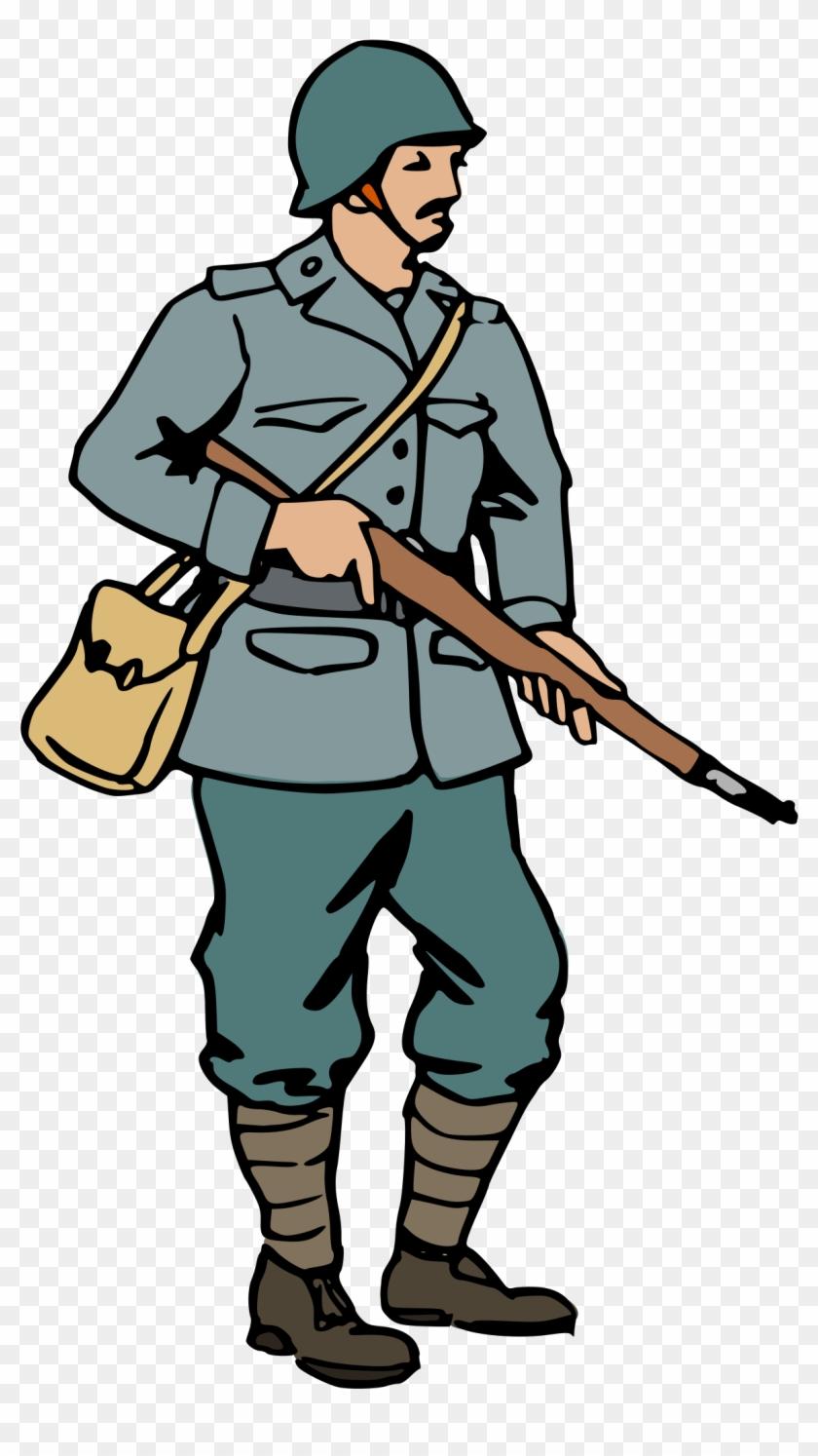 Ww2 Soldier Clipart - World War 2 Soldier Cartoon #125123