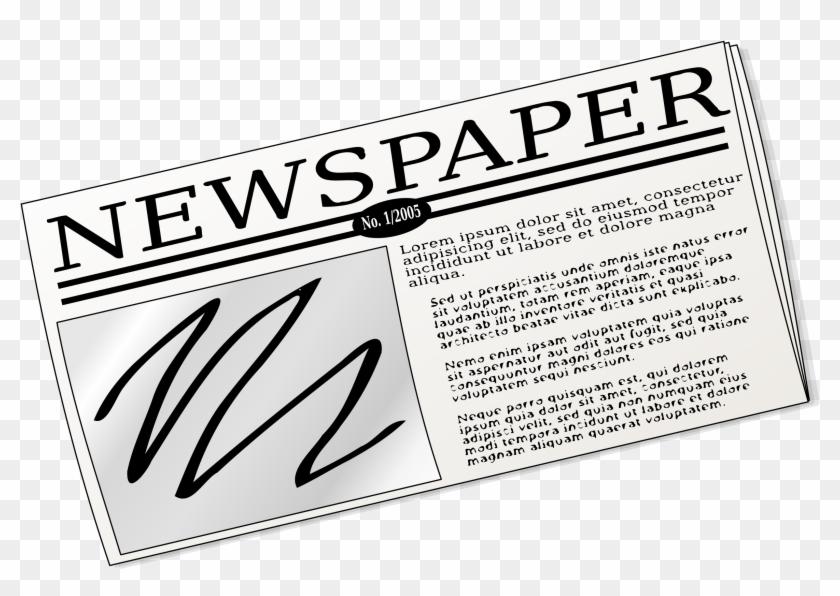 Clipart - Newspaper Clip Art #125202