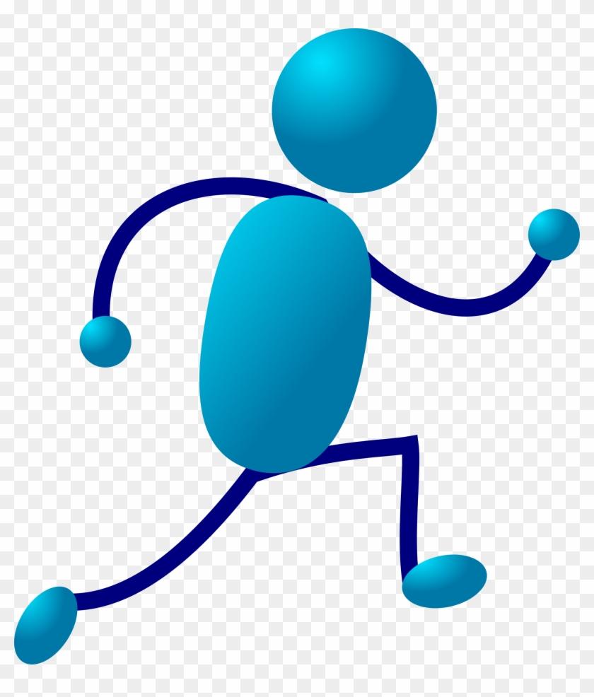 Microsoft Clipart Stickman - Stick Man Running #125252
