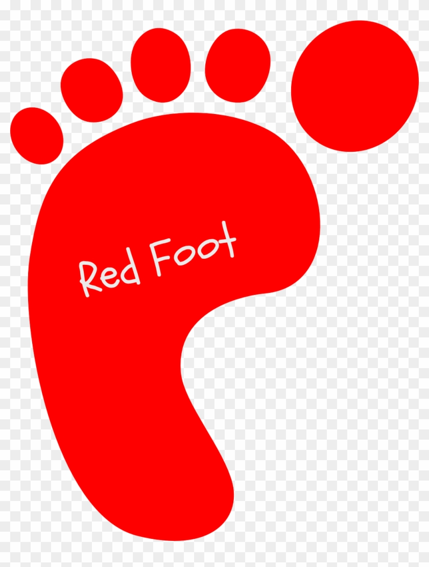 Big Foot Clipart Footstep - Red Baby Footprints #125362