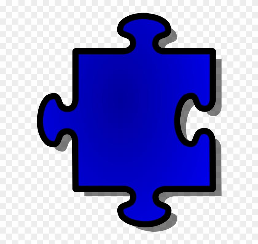 Free Vector Jigsaw Blue Puzzle Piece Clip Art - Puzzle Pieces Clip Art #125422