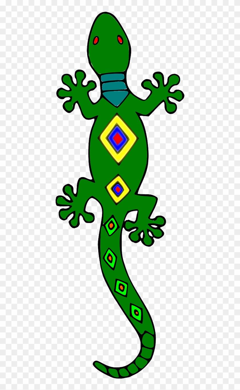 Free To Use Public Domain Lizards Clip Art - Gecko #125472