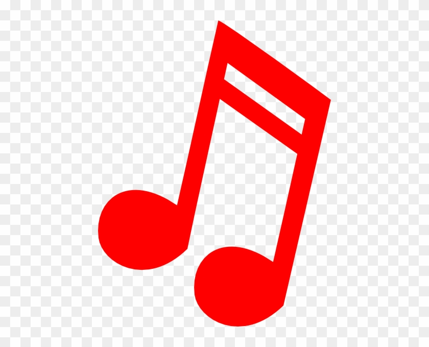 Red Music Notes Clip Art #125750