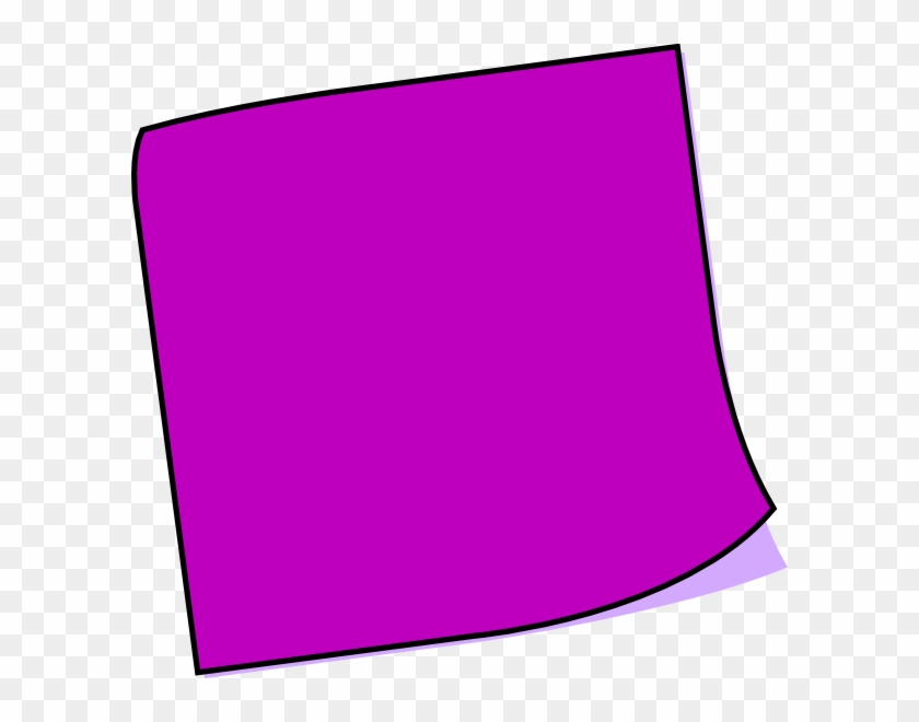 Purple Blank Sticky Note Clipart - Purple Post It Notes #125758