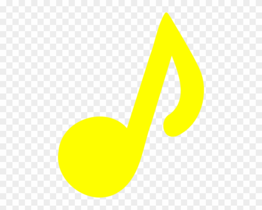 Music Notes Clipart Yellow - Music Notes Clipart Yellow #125760