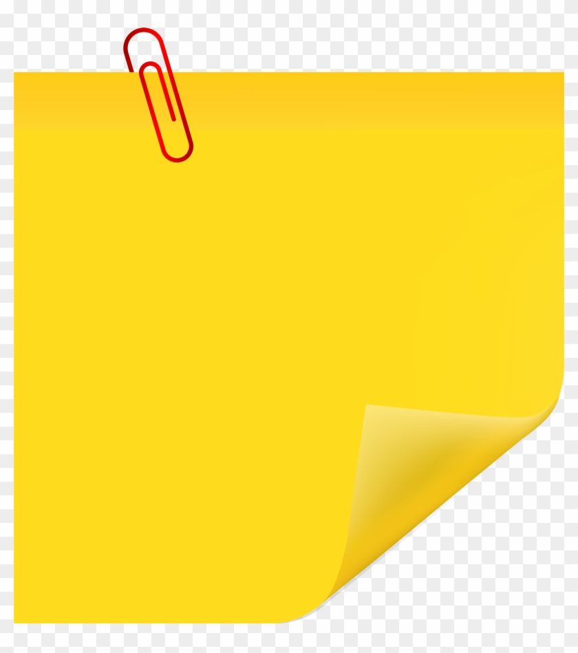 Sticky Note With Paperclip Png Clip Art - Post It With Paperclip Clip Art #125789