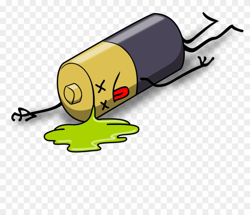 Dead Battery Leak Leakage Charge Power Sup - Dead Battery - Free  Transparent PNG Clipart Images Download