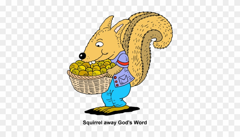 Squirrel Away - Basket Of Nuts Clipart #125905