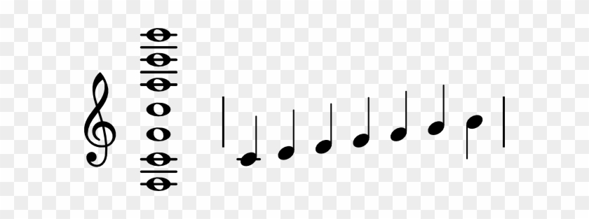 Free Vector Note Segment Of C Clip Art - Music Notation #125908