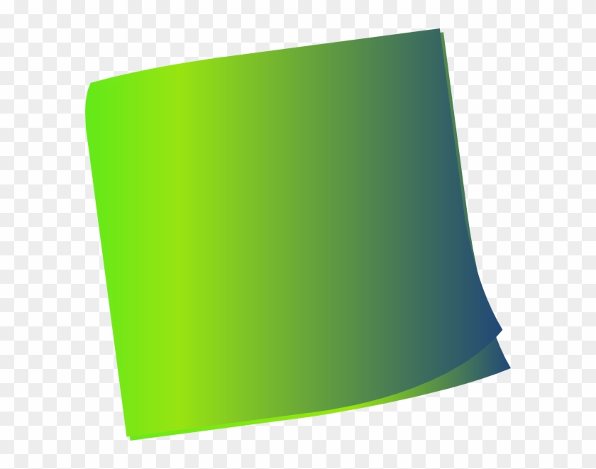 Shaded Green Sticky Note Clip Art - Green Sticky Notes Png #125930