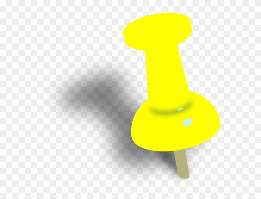Push Pin Cliparts - Yellow Push Pin Png #125937