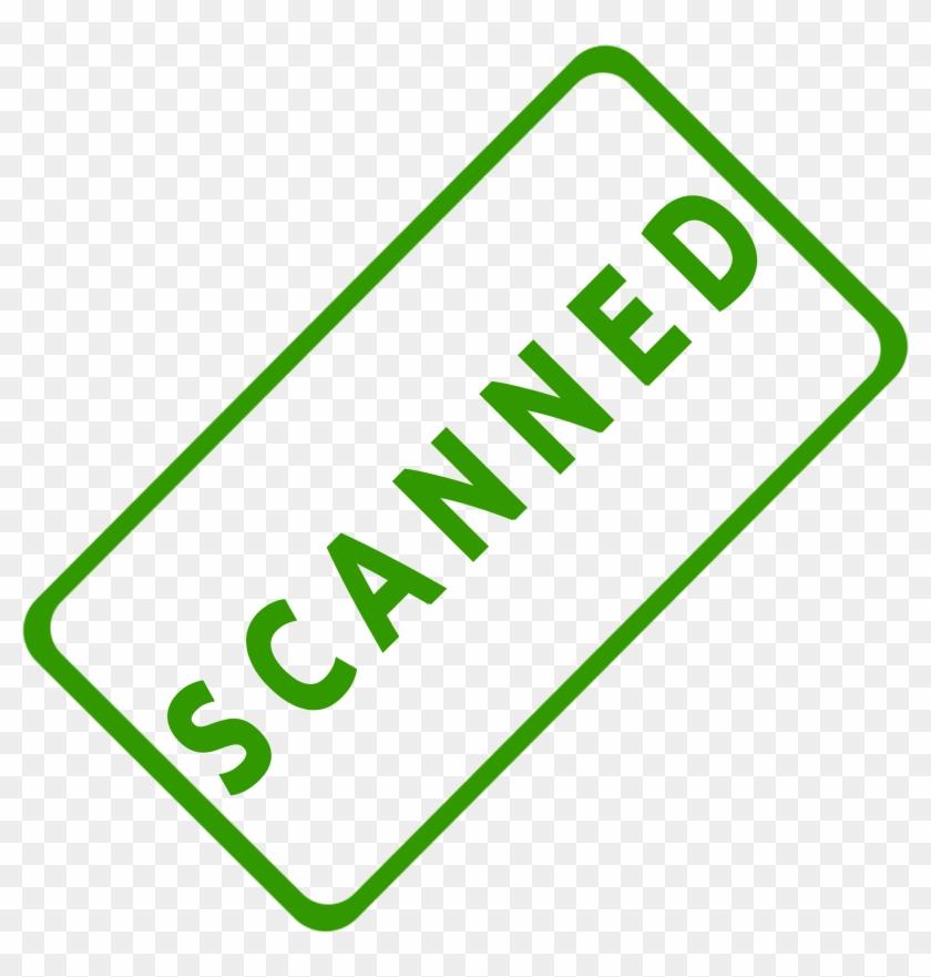 Scanner Clip Art Office - Scanned Stamp #126037