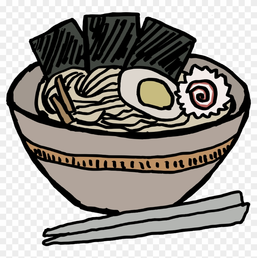 Clip Art Details - Ramen Bowl With Nori #126211