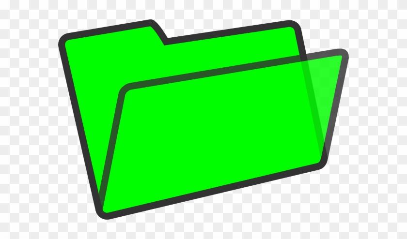 Green Folder Clip Art At Clker - Green Folder Clip Art #126422