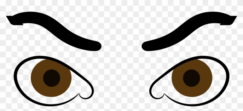 Angry Eyes Svg Vector File Vector Clip Art Svg File - Angry Eyes Clipart #126536