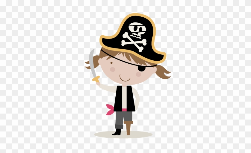 Clipart Girl Pirate Svg Cutting File For Scrapbooking - Girl Pirate Clipart #126548