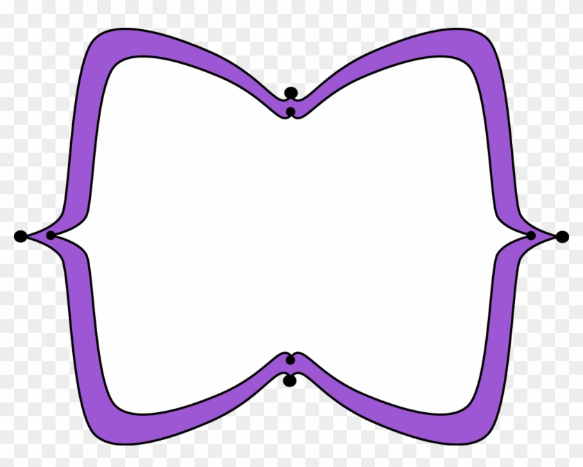 Purple Wide Pointy Frame - Colorful Frames Png Clipart #126640